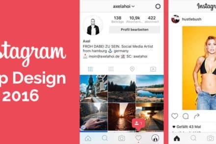 Instagram App Design 2016