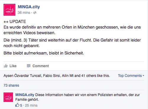 Facebook Schießerei Stachus