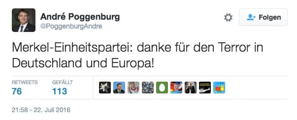 AfD Tweet Poggenburg