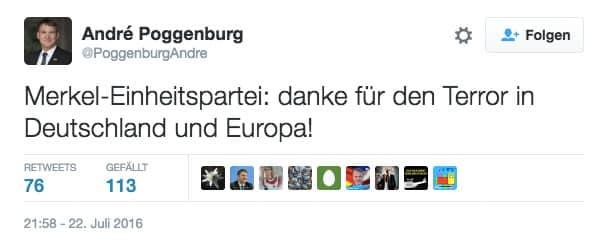 AfD Tweet Poggenburg