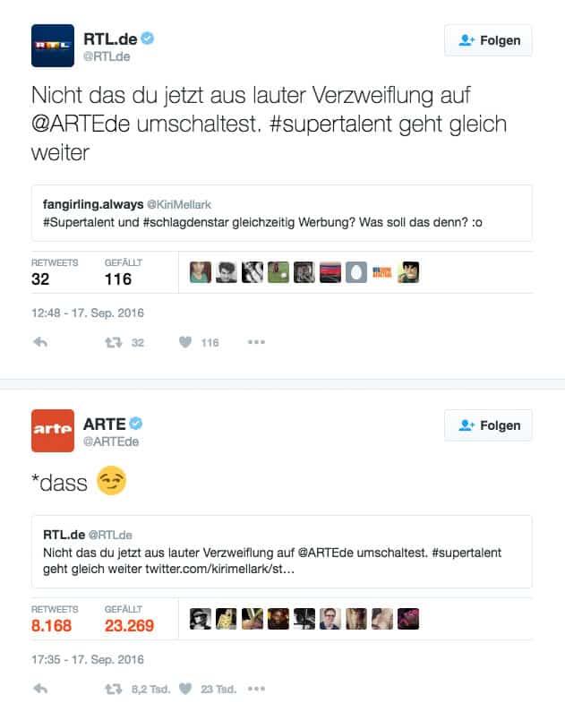 RTL vs ARTE Twitter Beef
