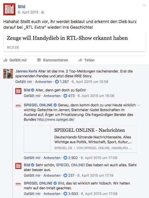 BILD SPIEGEL ONLINE Facebook Diskussion