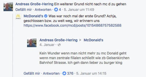 Facebook McDonalds witzig