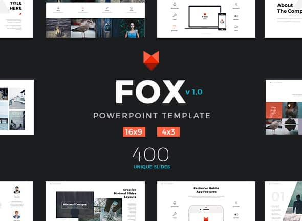 Powerpoint Template Fox