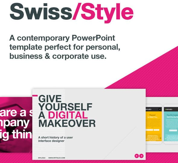 Powerpoint Templates Swiss Style