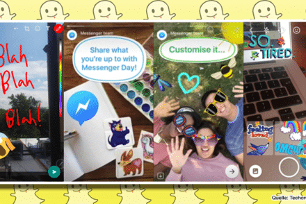 Facebook klaut von Snapchat