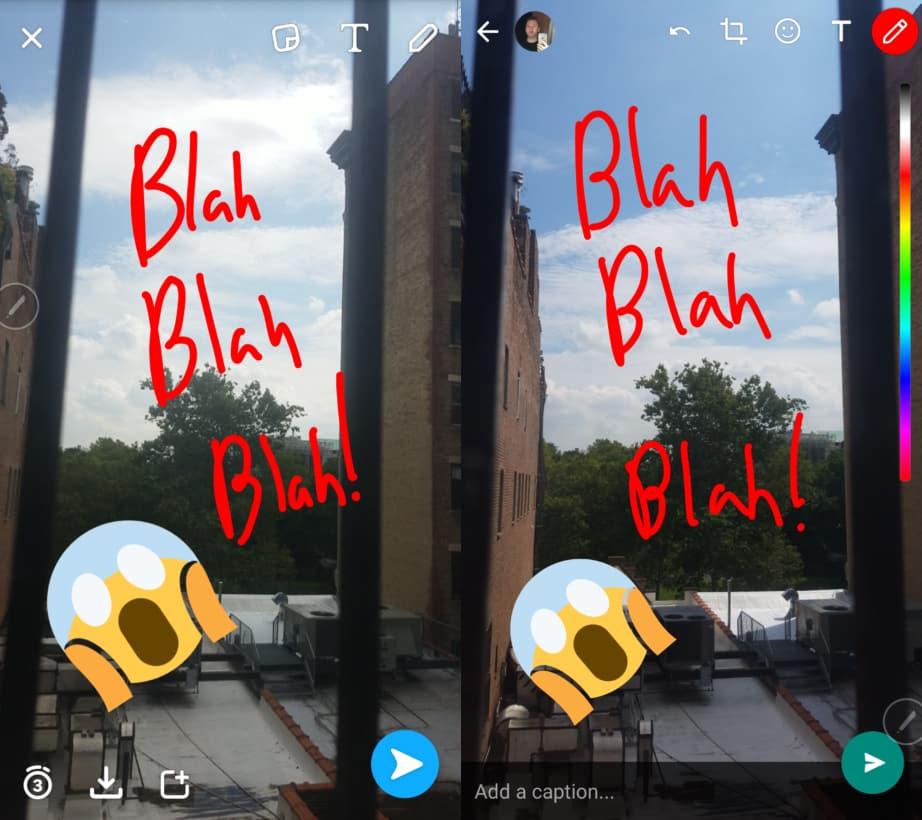 Snapchat WhatsApp Funktion
