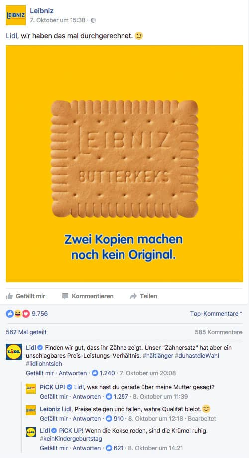 Social Media Leibniz Lidl PICK UP