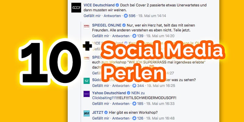 Social Media Perlen deutsch Marken