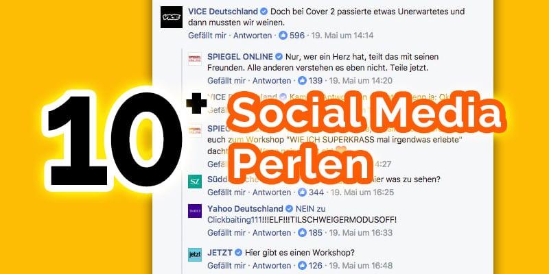Social Media Perlen deutsch Marken