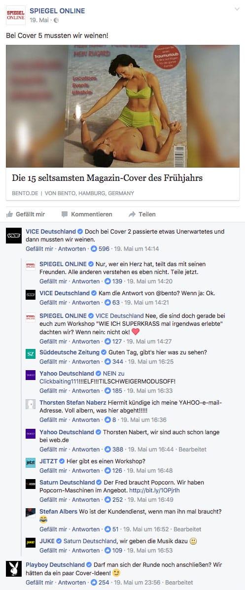Spiegel Vice Süddeutsche Facebook witzig